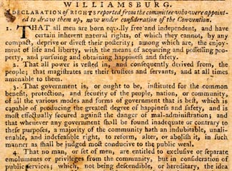 Williamsburg Declaration of Rights