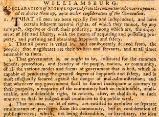 Williamsburg Declaration of Rights